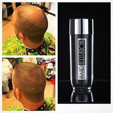 HAIR ILLUSION DIY HAIR FIBERS HAIR GAIN LOSS BALD SPOT MEN WOMEN Brown