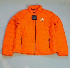 RALPH LAUREN RLX WOMEN'S POLO ORANGE QUILTED DOWN JACKET SIZE LARGE