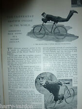 Trick Cyclist Cycling Bicycle Rare Old Victorian Antique 1898 Photo Article RMLI