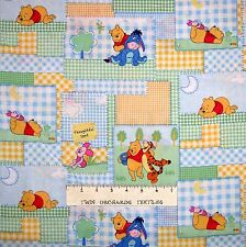 Nursery Baby Fabric - Winnie the Pooh Tigger Piglet Patch Bright - Springs YARD