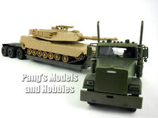 Freightliner Lowboy W/ M1 Tank 1/32 Scale Diecast and Plastic Model by Newray