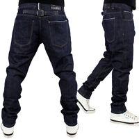 Streetwear Premium Straight Slim Fit Time Back Loop Plain Jeans Hip Is Hop Money
