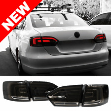 11-14 VW Jetta MK6 Euro Hybrid Style LED Taillights w/ Rear Fog - Smoke
