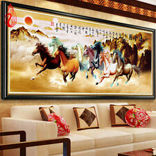 YGS-94 Embroidery Eight Horses Win Instant Success Diamond Painting Cross Stitch