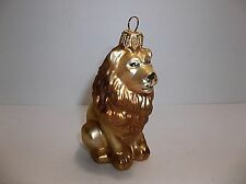 Vintage Blown Glass LION Christmas Tree Ornament