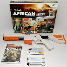 NEW Wii/Wii-U Cabela's African Adventures Game w/Top Shot Elite Rifle Gun Bundle