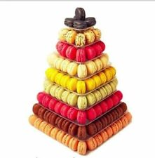 NEW 9-TIER CLEAR SQUARE FRENCH MACARON TOWER DISPLAY STAND FOR WEDDING / PARTY
