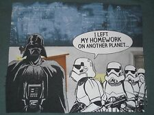Star Wars Darth Vader I Left My Homework on Another Planet T-Shirt Youth L 14/16