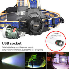 10000Lm XM-L T6 LED USB Headlamp Headlight Flashlight Head Light Waterproof NEW