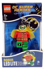 LEGO DC Super Heroes Comic Batman Robin Figure Key Light LED Lite Torch Keychain