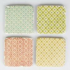 Set of 4 Morocco Pastel Drinks Coasters Retro Shabby Vintage Chic Style Kitchen