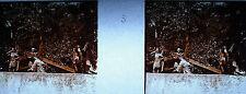 Photographie c1920 Chemin de croix des Espélugues Jésus tombe sous l'effort