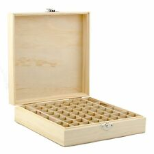 Wooden Essential Oil 58 Bottle Box Case. 5ml 10ml 15ml Roll On Storage Container
