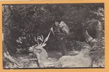 Real Photo Postcard RPPC - Hunter with Decapitated Deer - Hunting