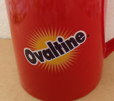 VINTAGE  OVALTINE RED CERAMIC CUP Rare
