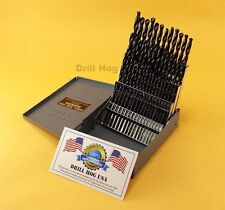 Drill Hog 60 Pc NUMBER Drill Bit Set Wire Gauge HI-MOLY M7 USA Lifetime Warranty