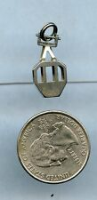 Vintage Pendant Charm Cage Sterling Silver Lift Car