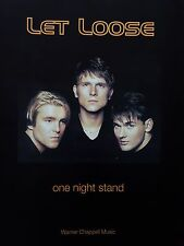Let Loose: One Night Stand (Sheet Music) - RARE, OUT OF PRINT, MINT CONDITION!