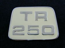 TRIUMPH TR250 BONNET BADGE NEW