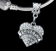 I love you Charm Love forever jewelry gift  lovers jewelry Low price(charm only)