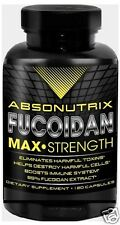 120 Capsules Absonutrix Fucoidan Pure Brown Sea Weed Extract 500mg immune