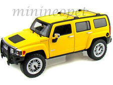 HOT WHEELS H3055 HUMMER H3 SUV 1/18 DIECAST YELLOW