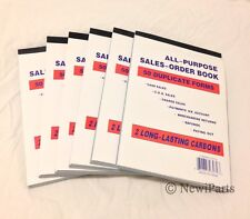"Lot of 6 Sales Order Book Receipt Book 50 Duplicate Forms 5.5""x8"" Wholesale lot"