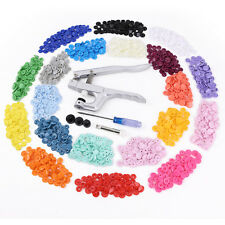 KAM Plastic Snap Pliers + 300 Snaps Buttons Poppers Starter Pack for Diapers/Bib