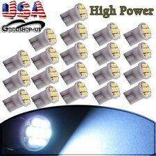 20X Cool White T10 Side Wedge 8smd Car Interior Light Bulbs W5W 194 168 2825 501