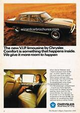 1969 CHRYSLER VF VIP VALIANT A3 POSTER AD SALES BROCHURE ADVERTISEMENT ADVERT