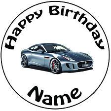 """Personalizado De Cumpleaños Jaguar Redondo 8"""" fácil Precortada Glaseado Cake Topper"""