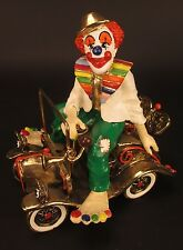 Vintage Ron Lee Clown in Wind-Up Car Signed 1979