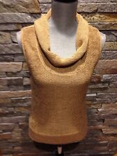 EUC J Crew Camel Tan Cotton Rayon Cowl Neck Sweater - Sleeveless - Size Medium