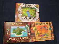 Kokopelli & Two Tribes Butterfly Island Change Book LOT Micahel Stearns Signed #