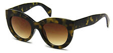 Women Sunglasses Brown Cat Eye Designer Celebrity Retro Fashion Style