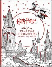 HARRY POTTER ~ MAGICAL PLACES & CHARACTERS COLORING & POSTER BOOK ~ MUCH DETAIL
