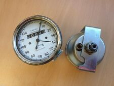 NEW SMITHS SPEEDO METER 0-120 MPH WITH WHITE FACE ROYAL ENFIELD