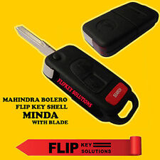 FLIP KEY REPLACEMENT SHELL (with blade) MINDA For MAHINDRA BOLERO