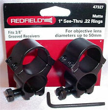 "Redfield 1"" .22 Air Rifle See-Thru Matte Scope Mount Rings 47327"