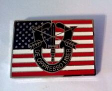 """Special Forces & United States Flag Hat Pin ( DE OPPRESSO LIBER )  1 1/8"""""""