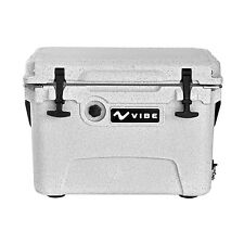 Vibe Heavy Duty 20 Quart Roto Molded Cooler Ice Chest with Bottle Openers Gray