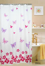 Butterfly   FABRIC SHOWER CURTAIN,