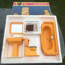 Sindy Orange Bathroom Set - Toilet, Sink, Bath  Gift Set
