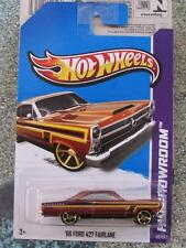 Hot Wheels 2012 #112/247 1966 Ford 427 Fairlane Bronce HW músculo Manía Largo Tarjeta
