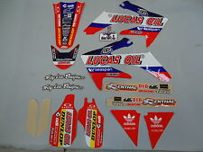 Honda CRF250 2004-2009 Troy Lee Designs Equipo Gráficos Lucas Oil kit EJ2001