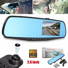 2.8'' HD 1080P Car DVR Dash Cam Rearview Mirror Car Camera Recorder Night Vision
