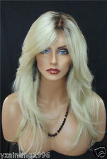 Charm Natural Wavy Wigs Heat Resistant Synthetic Medium Blonde Color Wig Hair