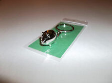 Lucky Casino Pig Charm Keychain Mini Chrome Pet Piglet Keyring Fun Gift-Free S/H