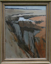 LAWRENCE SELF 1924-2001 MODERN BRITISH ABSTRACT LANDSCAPE ESSEX OIL PAINTING
