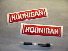 2x stickers decal HOONIGAN rouge 18cm drift race gymkhana Ken Block A76-027
